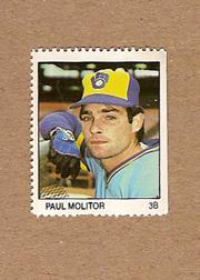 1983 Fleer Stamps #127 Paul Molitor