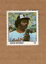 1983 Fleer Stamps #136 Eddie Murray