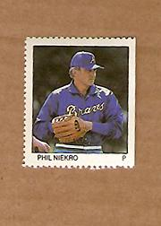 1983 Fleer Stamps #139 Phil Niekro