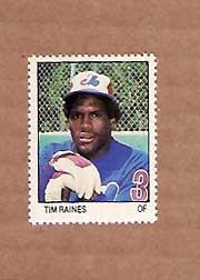 1983 Fleer Stamps #155 Tim Raines