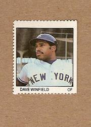 1983 Fleer Stamps #219 Dave Winfield