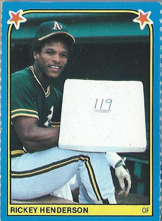 1983 Fleer Stickers #144 Rickey Henderson