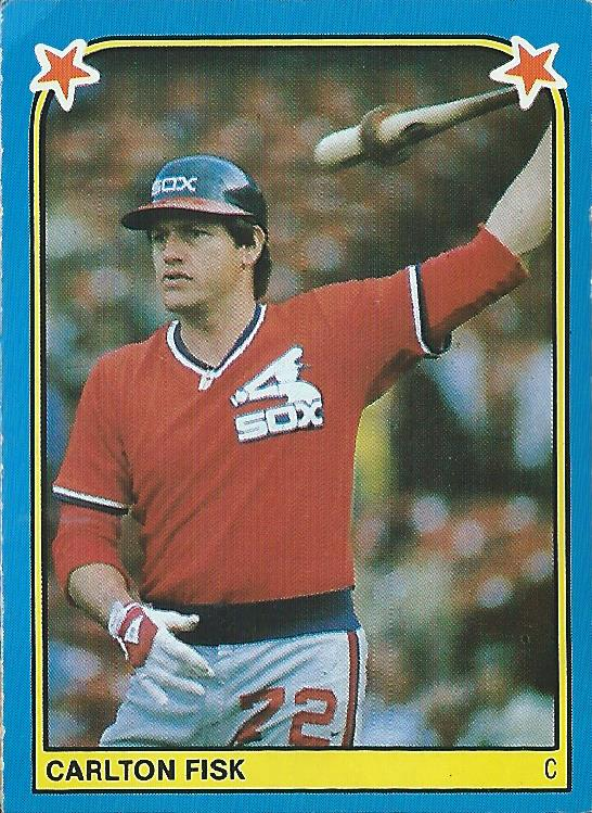 1983 Fleer Stickers #153 Carlton Fisk