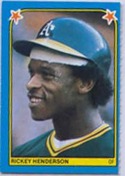 1983 Fleer Stickers #192 Rickey Henderson front image