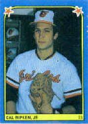 1983 Fleer Stickers #198 Cal Ripken