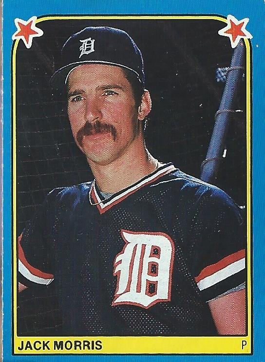 1983 Fleer Stickers #252 Jack Morris
