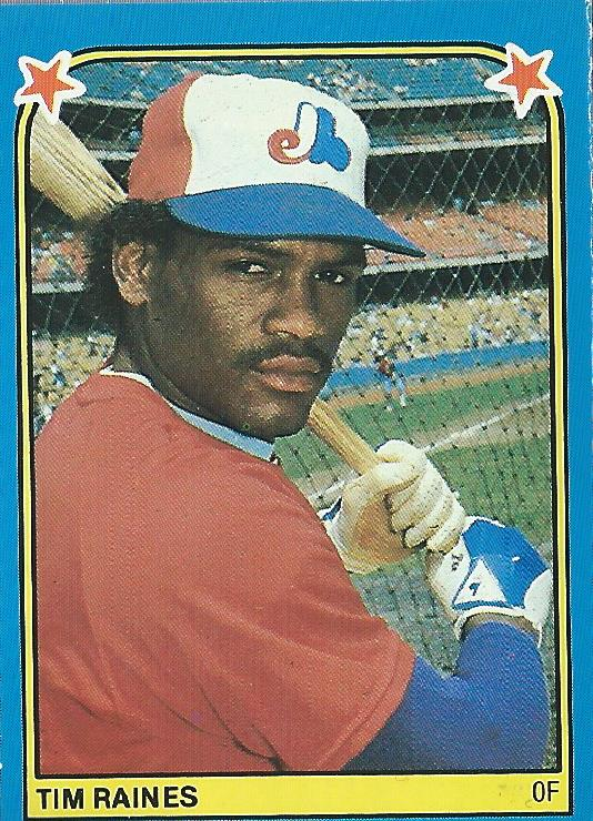 1983 Fleer Stickers #265 Tim Raines