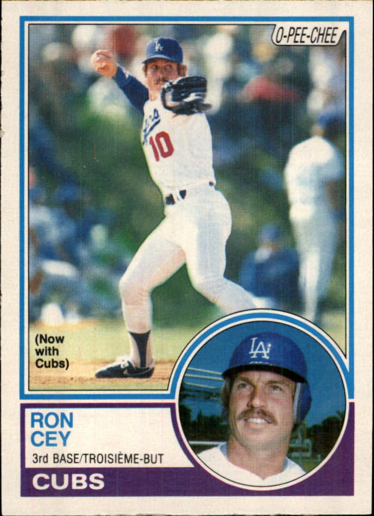 1983 O-Pee-Chee #15 Ron Cey/Now with Cubs