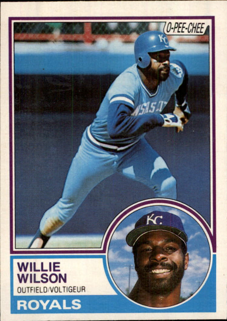 1983 O-Pee-Chee #16 Willie Wilson