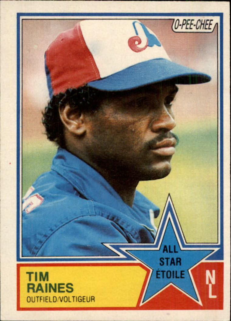 1983 O-Pee-Chee #352 Tim Raines AS