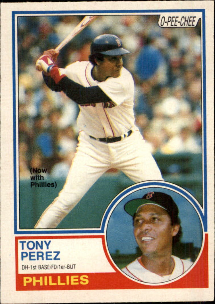 1983 O-Pee-Chee #355 Tony Perez/Now with Phillies