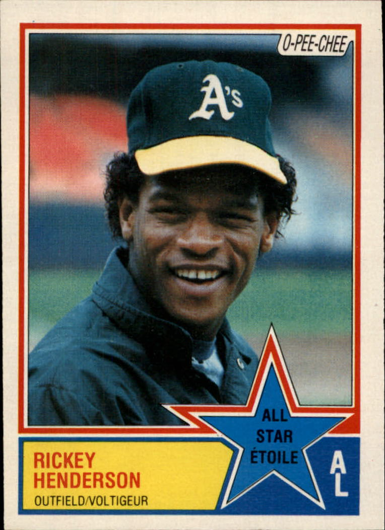 1983 O-Pee-Chee #391 Rickey Henderson AS