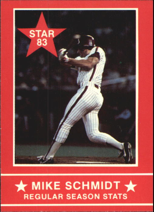 1983 Star Schmidt #2 Mike Schmidt/Regular Season Stats