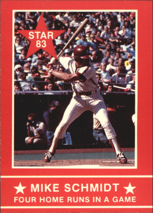 1983 Star Schmidt #10 Mike Schmidt/Four HR's In A Game