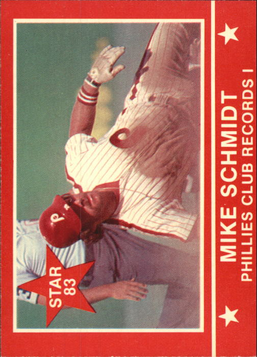 1983 Star Schmidt #13 Mike Schmidt/Phillies Club Records I