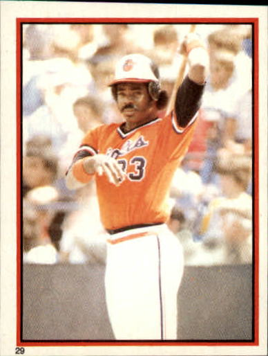 1983 Topps Stickers #29 Eddie Murray