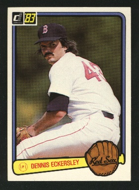1983 Donruss #487 Dennis Eckersley