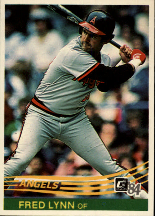 1984 Donruss #108 Fred Lynn