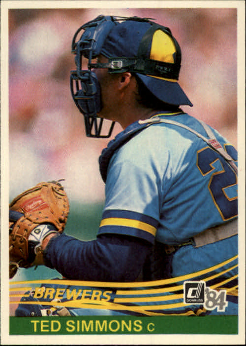 1984 Donruss #473 Ted Simmons