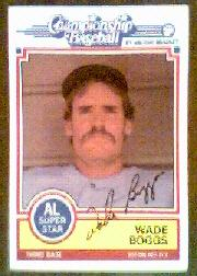 1984 Milton Bradley #1 Wade Boggs