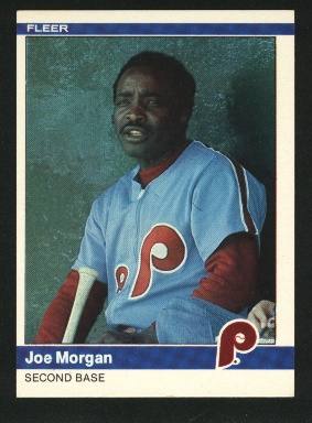 1984 Fleer #43 Joe Morgan