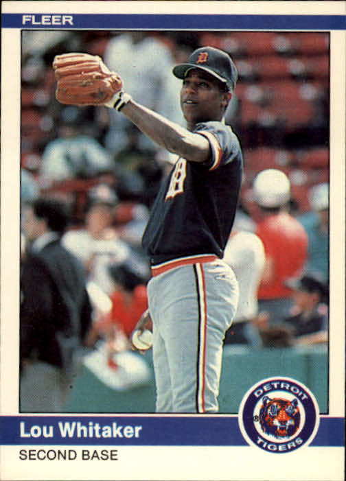 1984 Fleer #92 Lou Whitaker