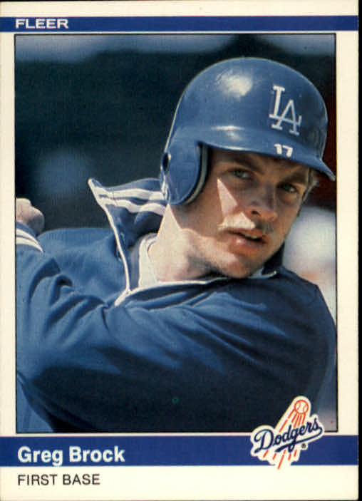 1984 Fleer #98 Greg Brock