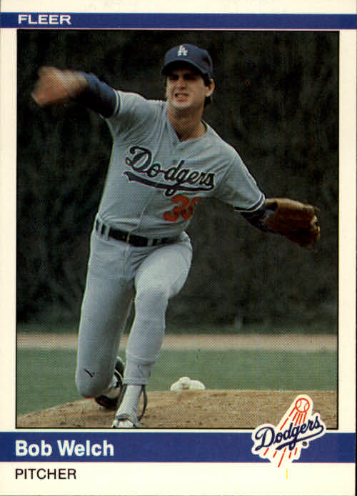 1984 Fleer #116 Bob Welch