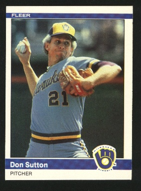 1984 Fleer #215 Don Sutton