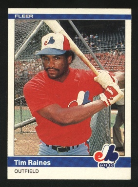 1984 Fleer #281 Tim Raines