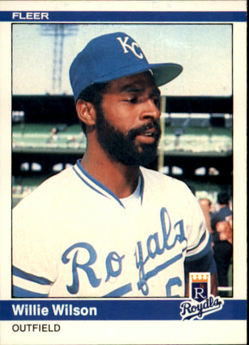 1984 Fleer #364 Willie Wilson