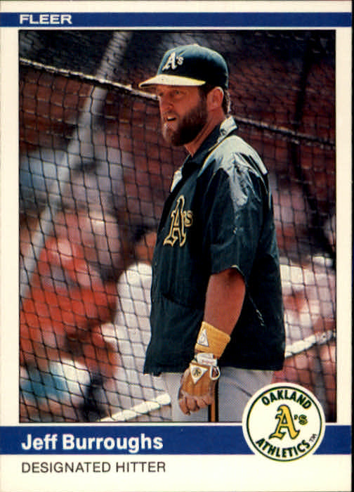 1984 Fleer #440 Jeff Burroughs