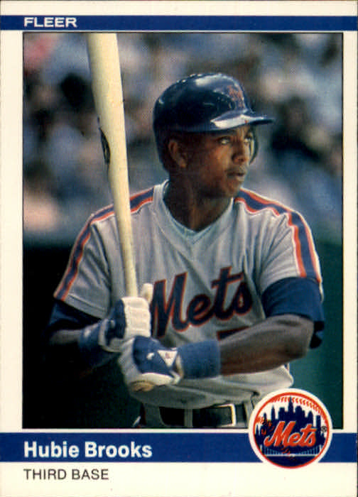 1984 Fleer #582 Hubie Brooks front image