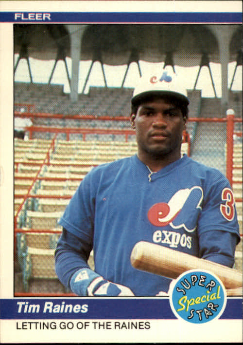 1984 Fleer #631 Tim Raines IA