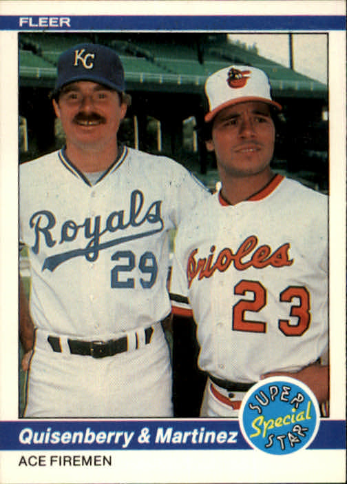 1984 Fleer #635 Ace Firemen/Dan Quisenberry/and Tippy Martinez