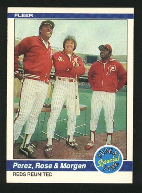 1984 Fleer #636 J.Morgan/P.Rose/T.Perez
