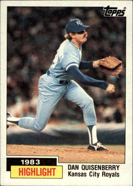 1984 Topps #3 Dan Quisenberry HL/Sets save record