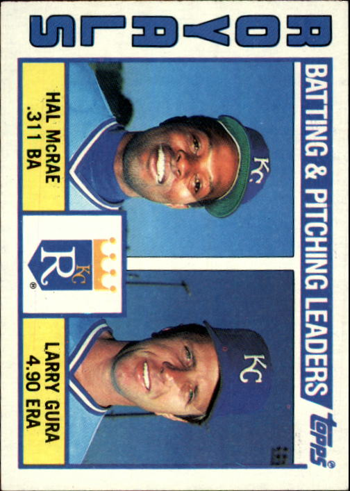 1984 Topps #96 Kansas City Royals TL/Hal McRae/Larry Gura/(Che