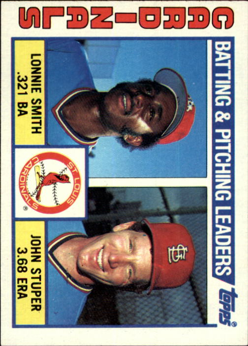 1984 Topps #186 Cardinal TL/Lonnie Smith/John Stuper/(Checklist