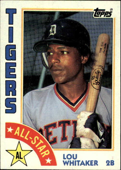 1984 Topps #398 Lou Whitaker AS