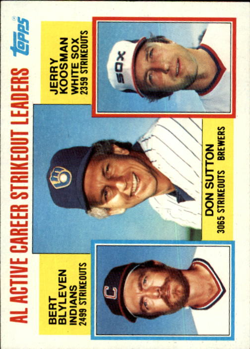 1984 Topps #716 AL Active Strikeout/Don Sutton/Bert Blyleven/Je