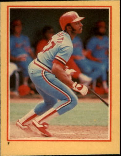 1984 Fleer Stickers #7 Lonnie Smith