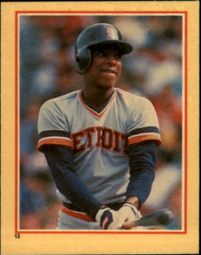 1984 Fleer Stickers #13 Lou Whitaker