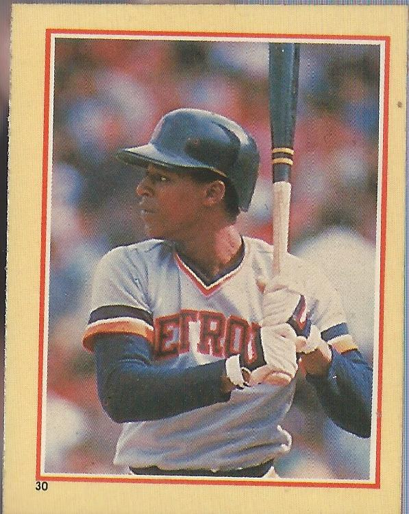 1984 Fleer Stickers #30 Lou Whitaker