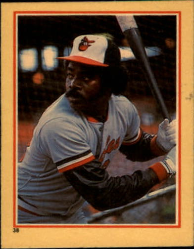 1984 Fleer Stickers #38 Eddie Murray