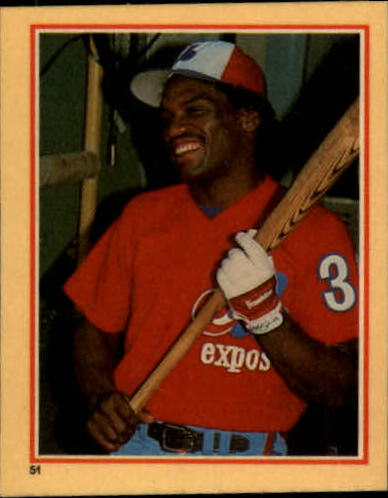 1984 Fleer Stickers #51 Tim Raines
