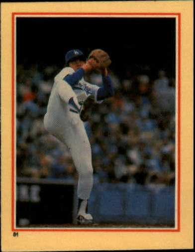 1984 Fleer Stickers #81 Fernando Valenzuela
