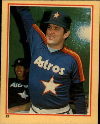 1984 Fleer Stickers #82 Nolan Ryan
