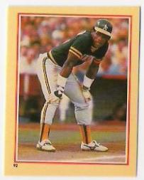 1984 Fleer Stickers #92 Rickey Henderson