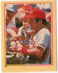 1984 Fleer Stickers #96 Johnny Bench